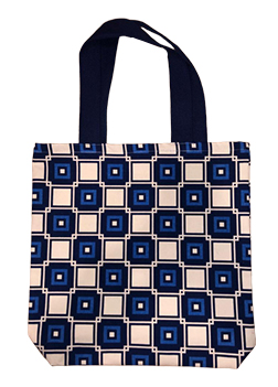 Blue Rectangle Fashion Bags