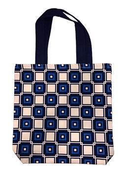 Blue Rectangle Fashion Bags